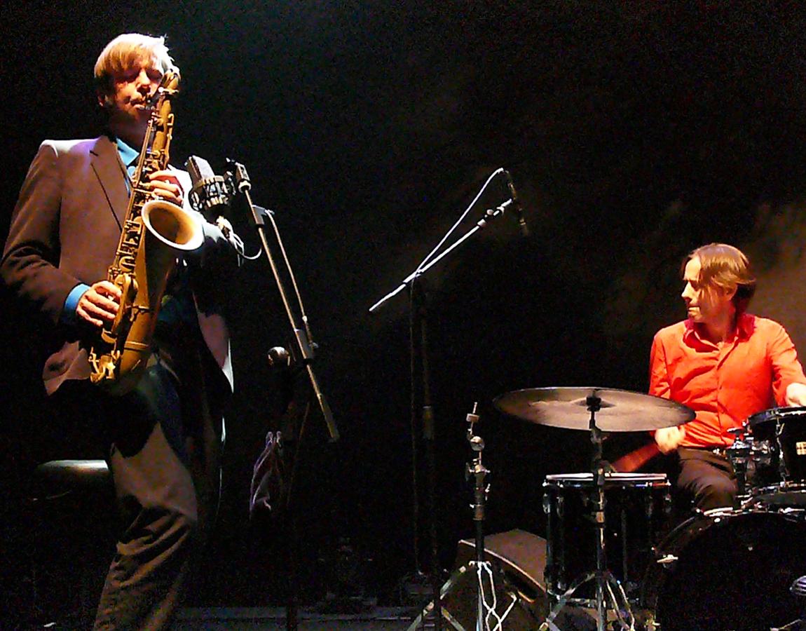Daniel Erdmann and Edward Perraud at Jazz Em Agosto Lisbon
