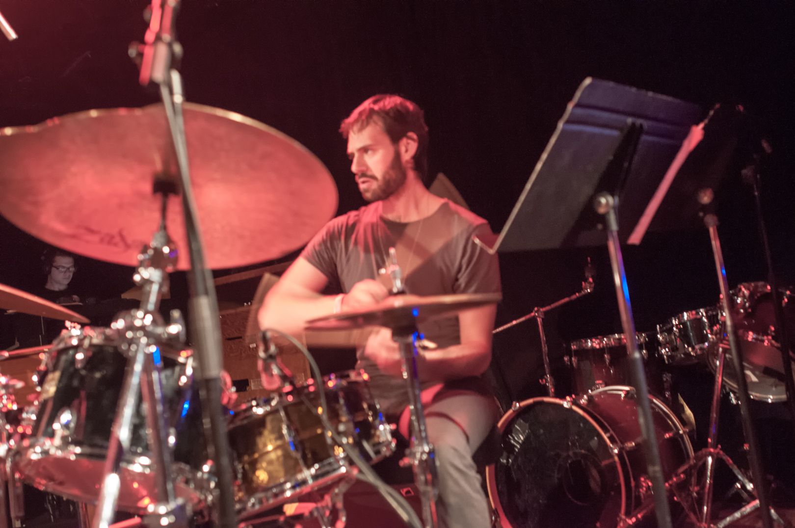 Dan Weiss with Rudresh Mahanthappa's Gamak at le Poisson Rouge at Winter Jazzfest 2013