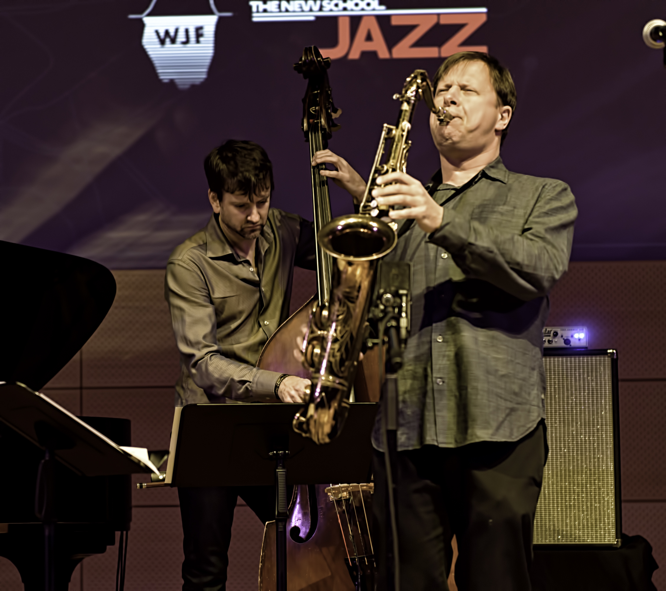 Chris Potter and Joe Martin with Chris Potter Quartet At The NYC Winter Jazzfest 2016