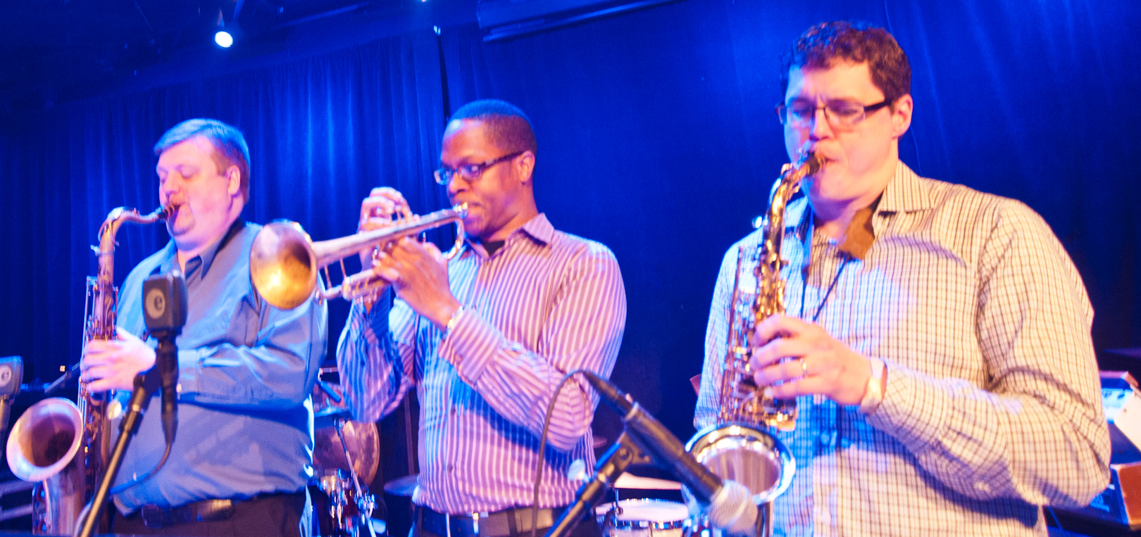Joel Frahm, Brandon Lee and Todd Bashore with Laurence Hobgood at the Winter Jazzfest 2012