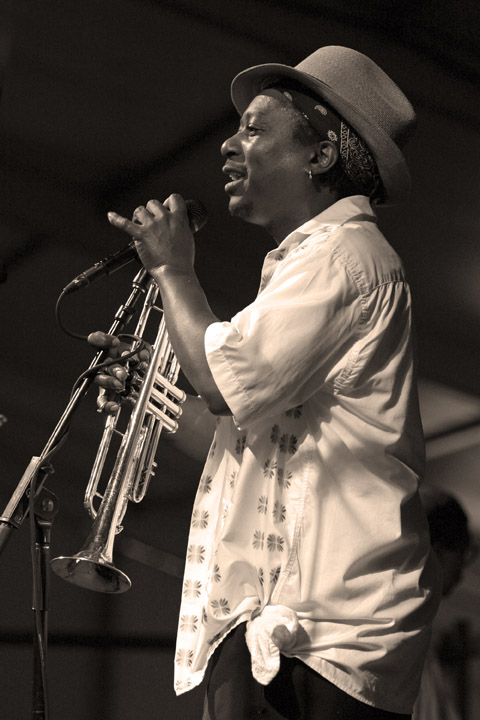 Kermit Ruffins at the New Orleans Jazz and Heritage Festival 2004