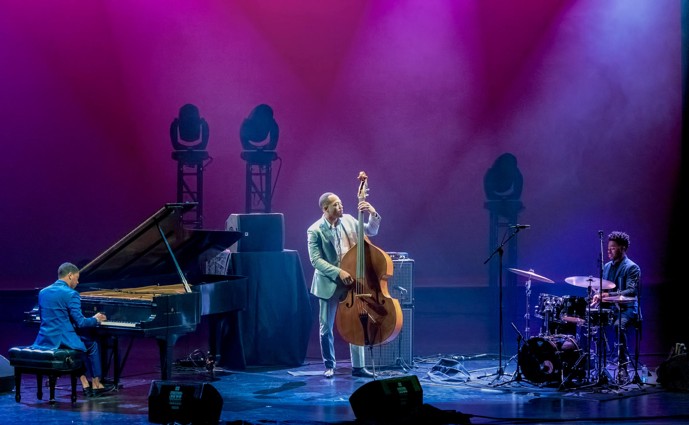 Christian Sands, Eric Wheeler and Jonathan Barber at The Montreal International Jazz Festival 2018