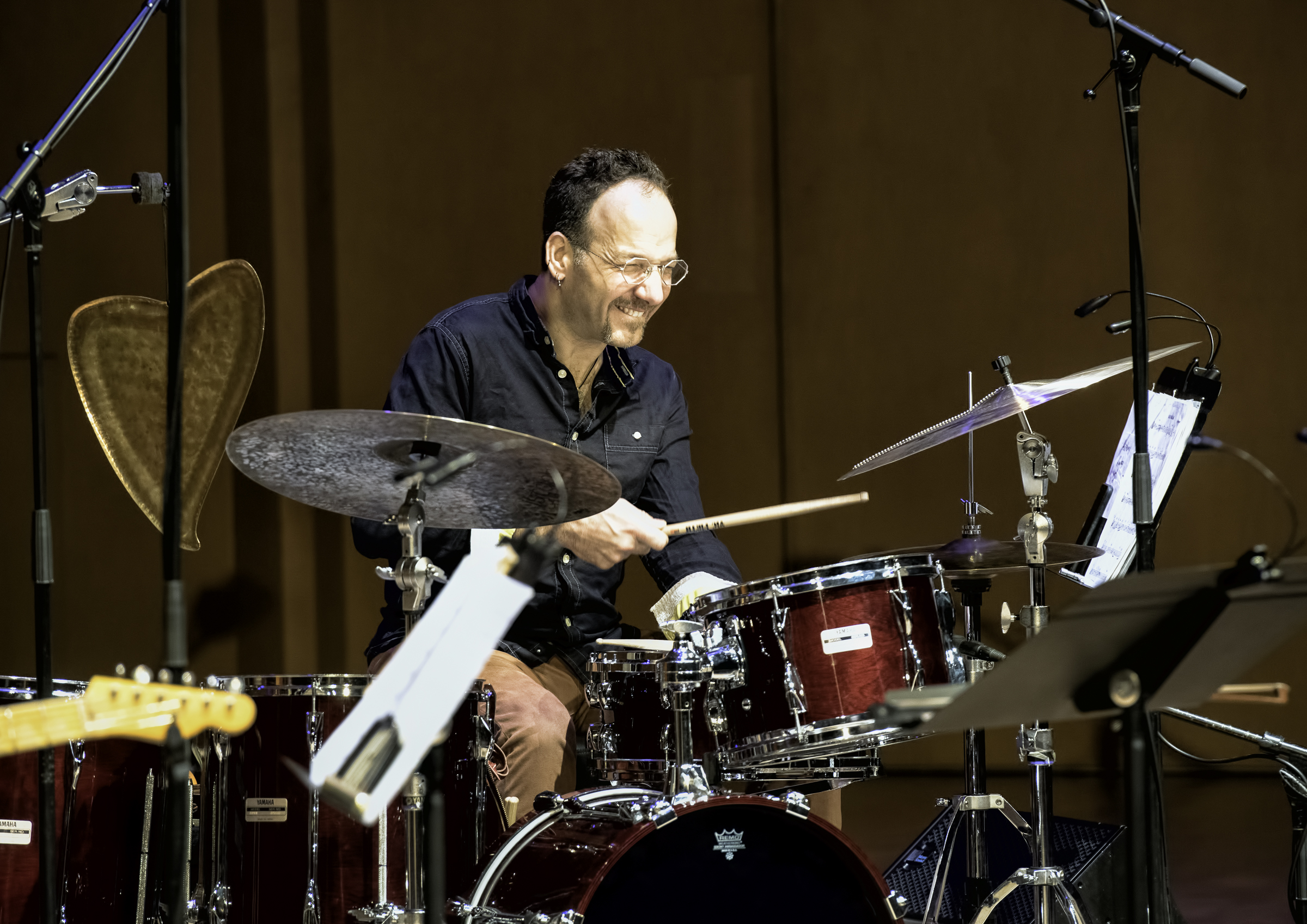 Scott Amendola with Regina Carter at the Musical Instrument Museum (MIM) Phoenix