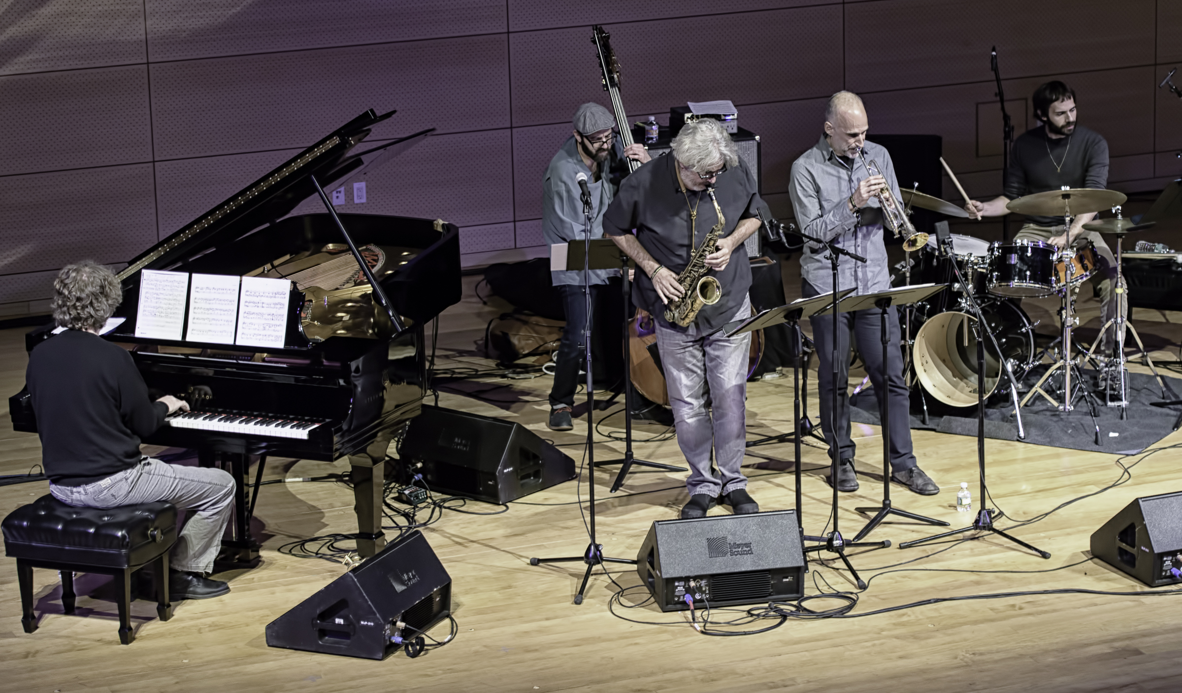 Matt Mitchell, John Hebert, Tim Berne, Ralph Alessi And Dan Weiss With Tim Berne Sideshow At The Nyc Winter Jazzfest 2016