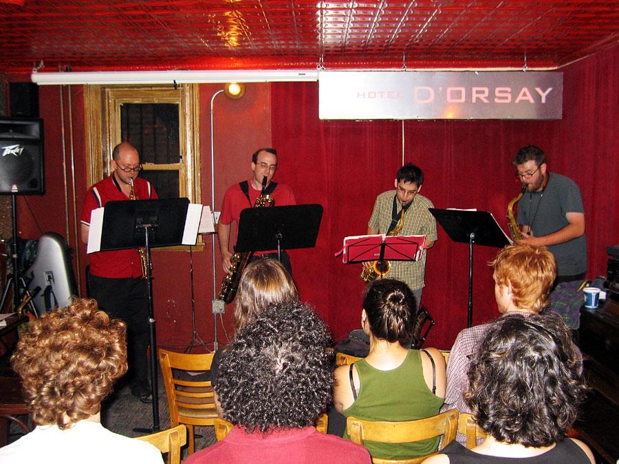Collide Quartet with Peter Hess, Jeff Hudgins, Evan Rapport and Ken Thomson - Barbs 2004