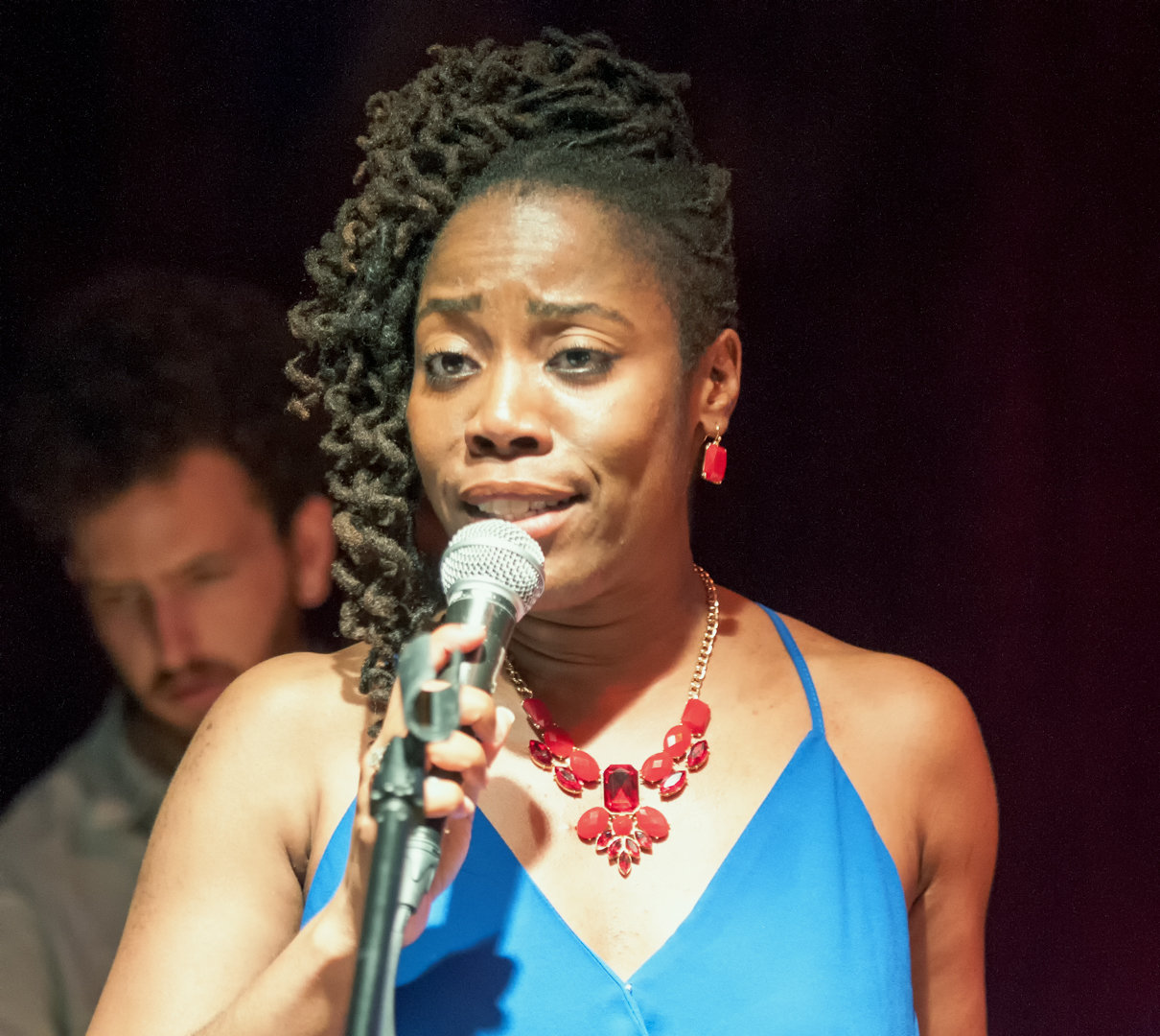 Pauline Jean with Godwin Louis at the Jazz Gallery