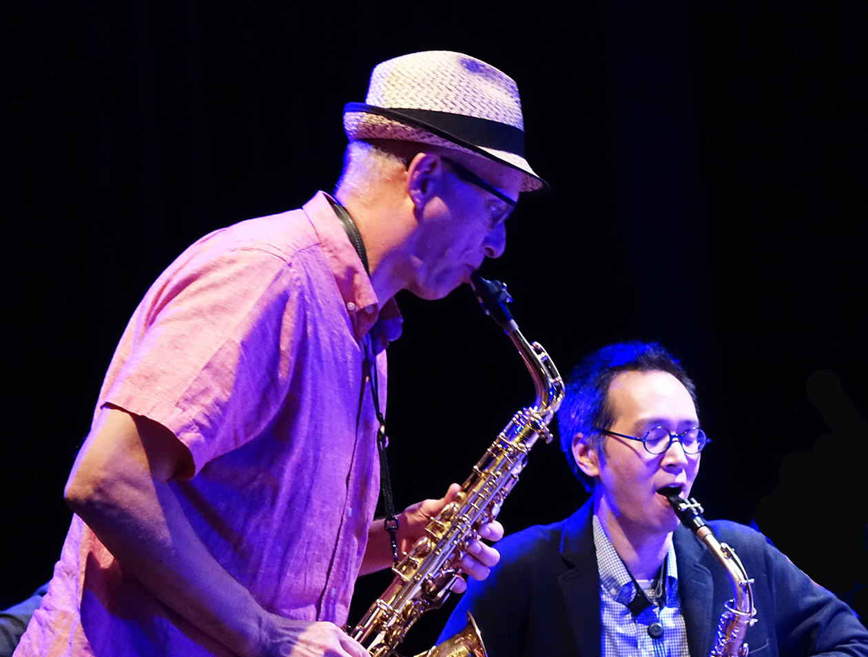 Michael Moore and James Fei at Doek Festival 2015