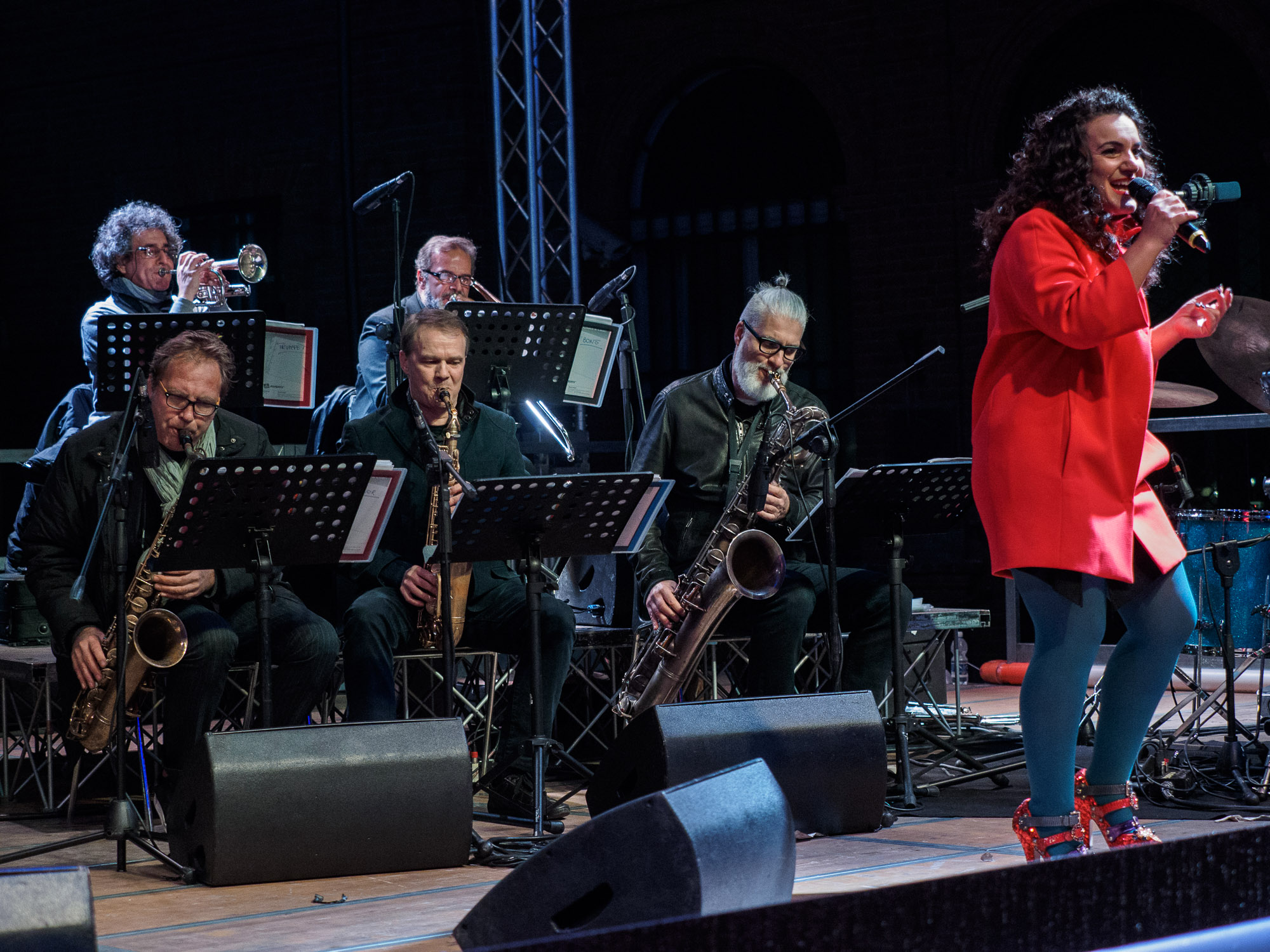 """Simona De Rosa with the winds section of MJF Orchestra - """"With respect to Ella"""""""