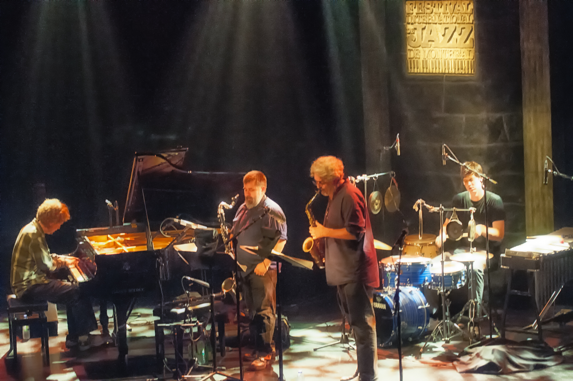 Matt mitchell, oscar noriega, tim berne and ches smith with snakeoil at the montreal international jazz festival 2013