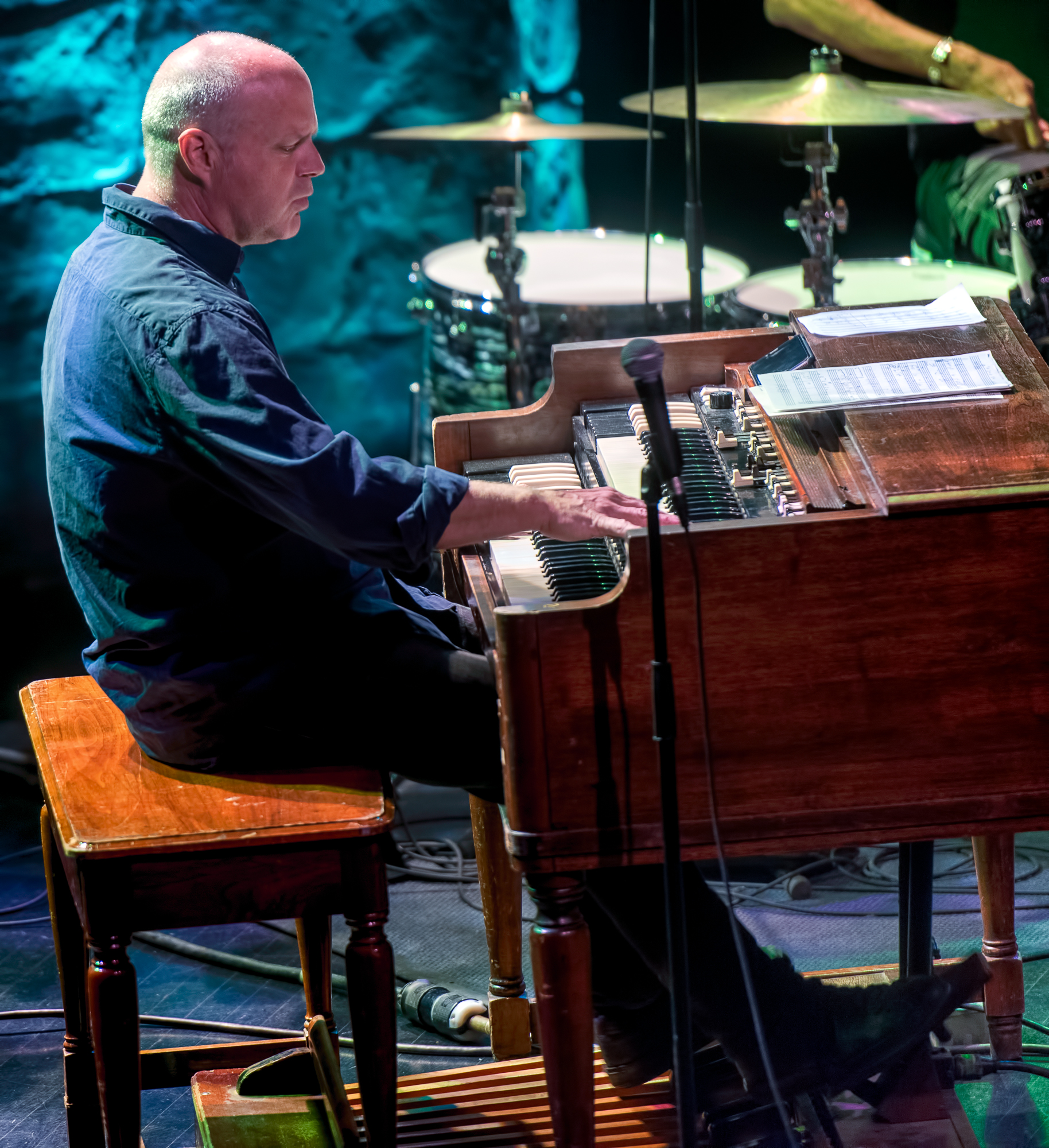 John Medeski With Marc Ribot And J.t. Lewis At The Montreal International Jazz Festival 2018