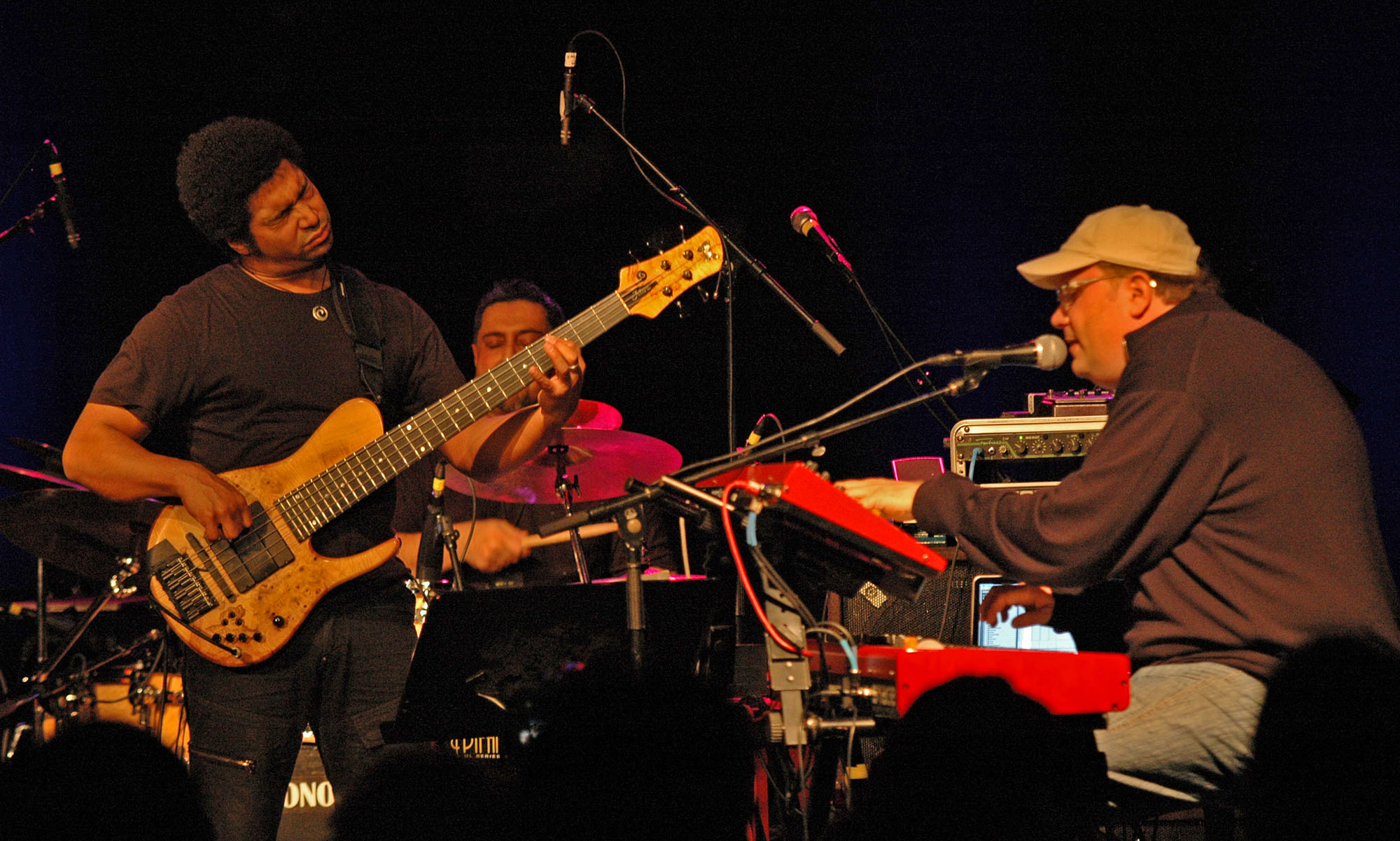 Matthew Garrison, Ranjit Barot and Scott Kinsey, Performing with Human Element at the New Universe Music Festival 2010