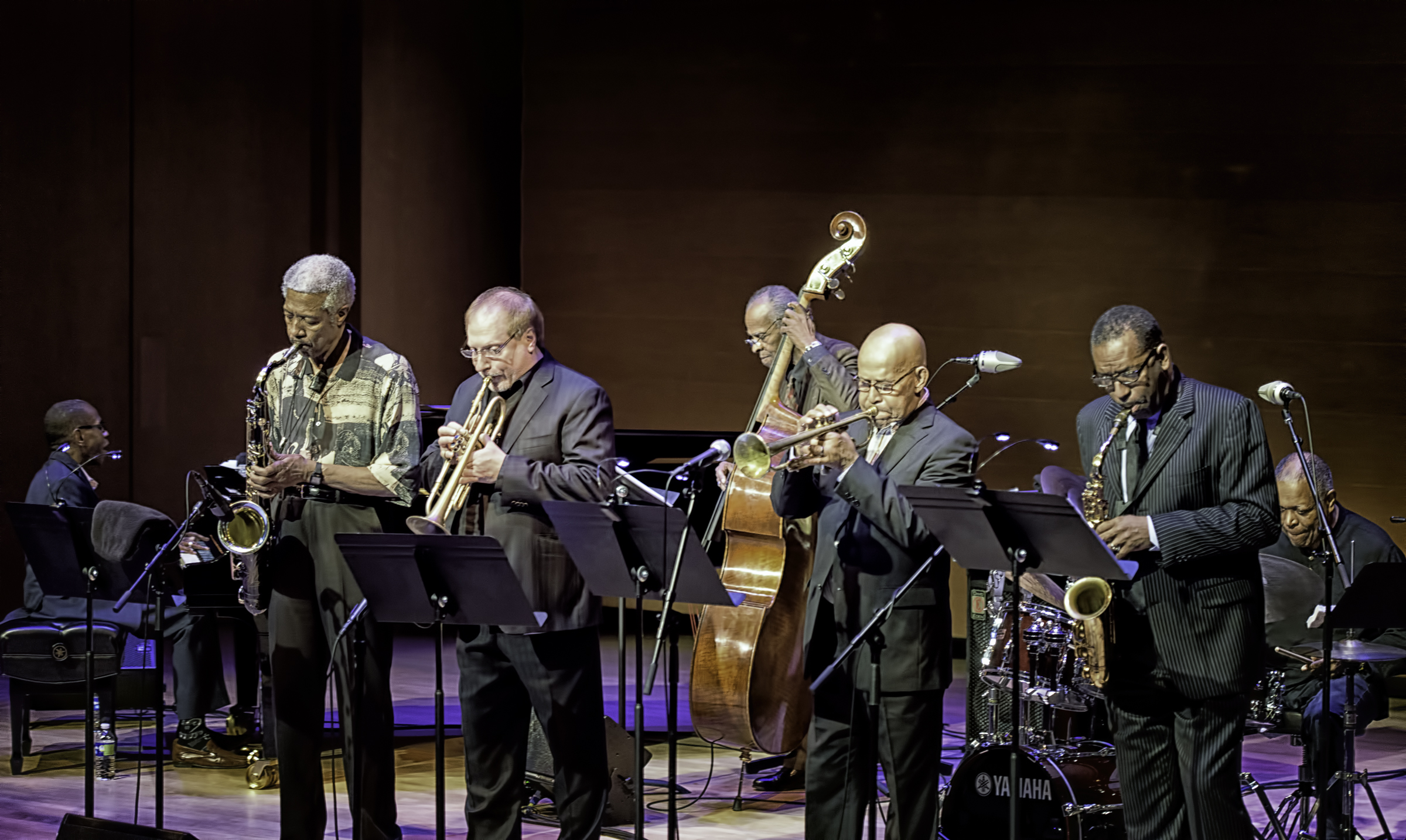 George Cables, Billy Harper, Cecil Mcbee, David Weiss, Eddie Henderson, Billy Hart And Donald Harrison With The Cookers At The Musical Instrument Museum (mim) In Phoenix