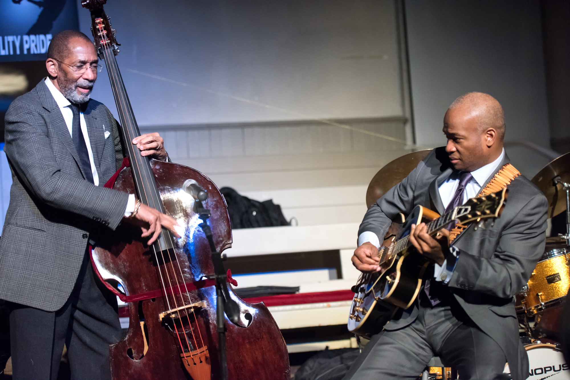 Ron Carter and Russell Malone at Jazz Legends Play for Disability Pride at Nyc Winter Jazzfest 2015