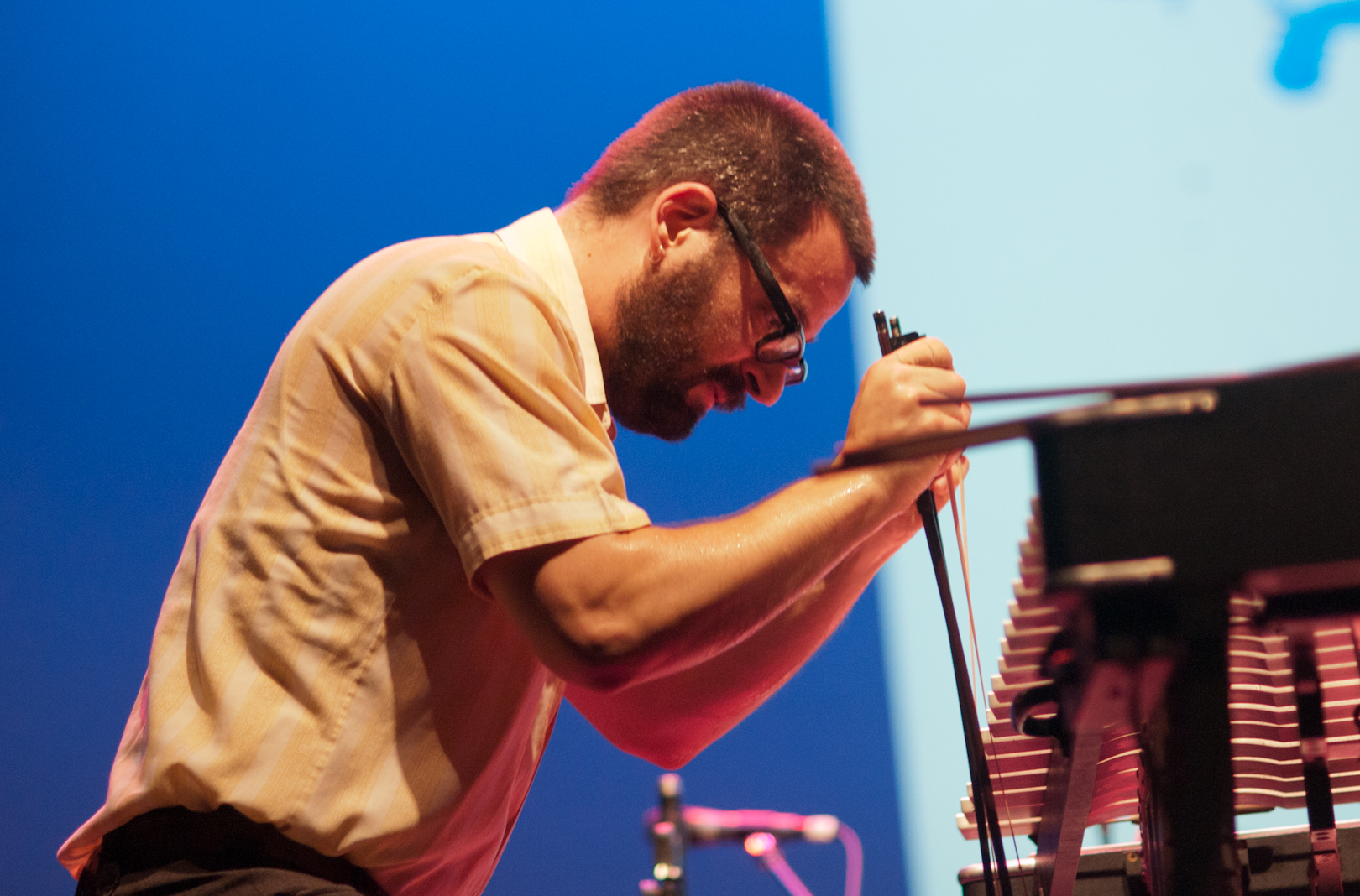 Jason Adasiewicz in Duet with Peter Brotzman at the Vision Festival 2011
