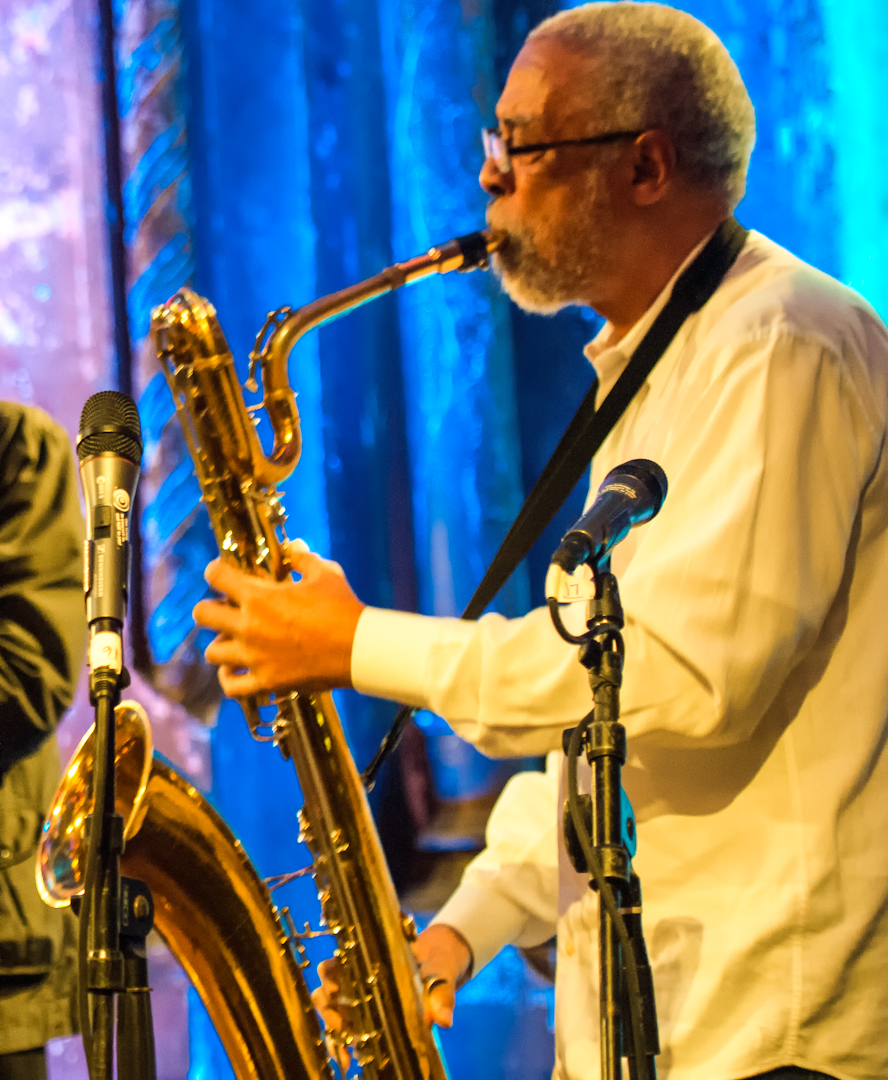 Hamiet Bluiett at the Under_line Benefit at Angel Orensanz Foundation
