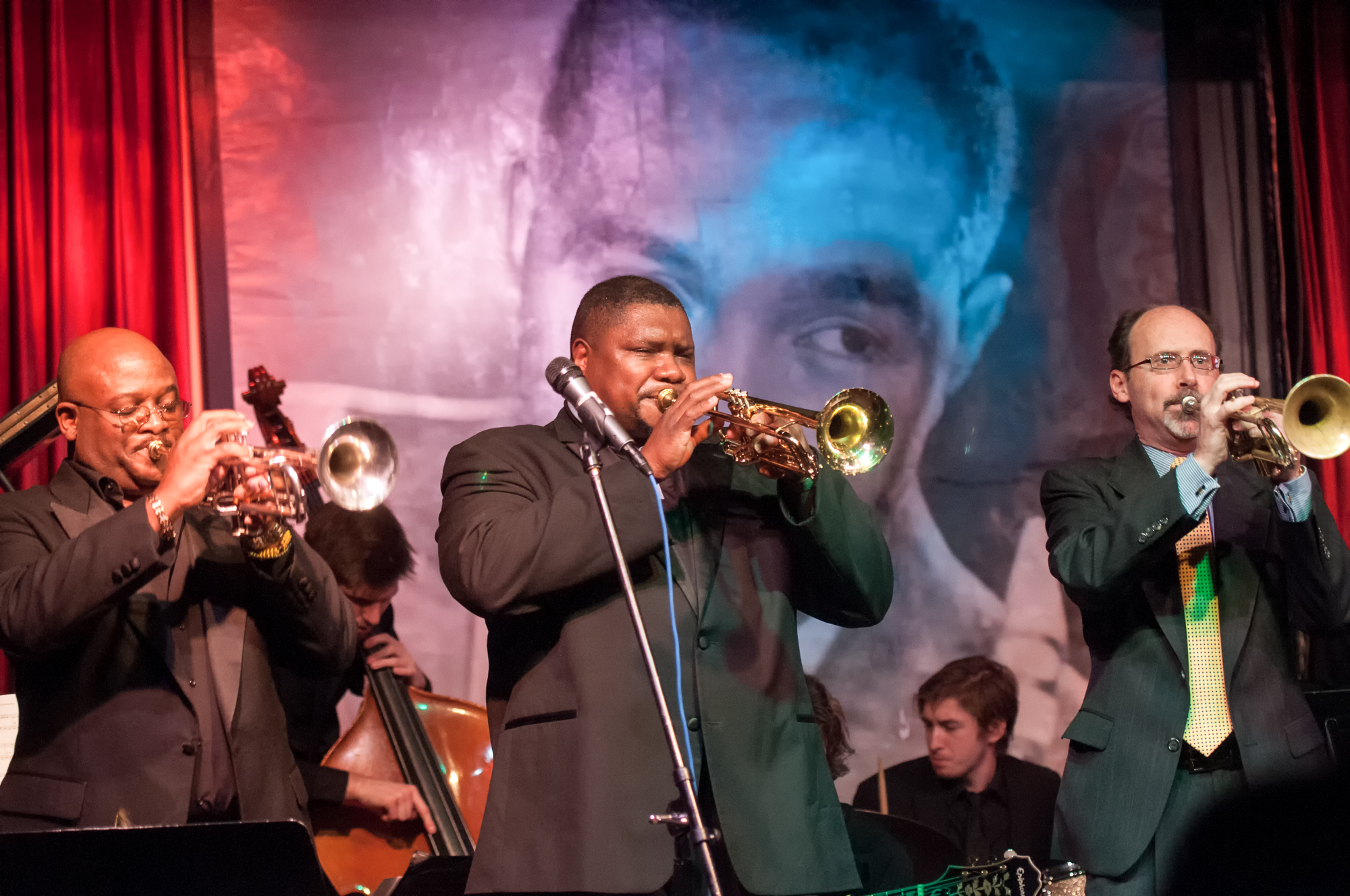 Endre Rice, Wycliffe Gordon and Scott Hall with the Columbia College Jazz Ensemble at the Jazz Showcase in Chicago