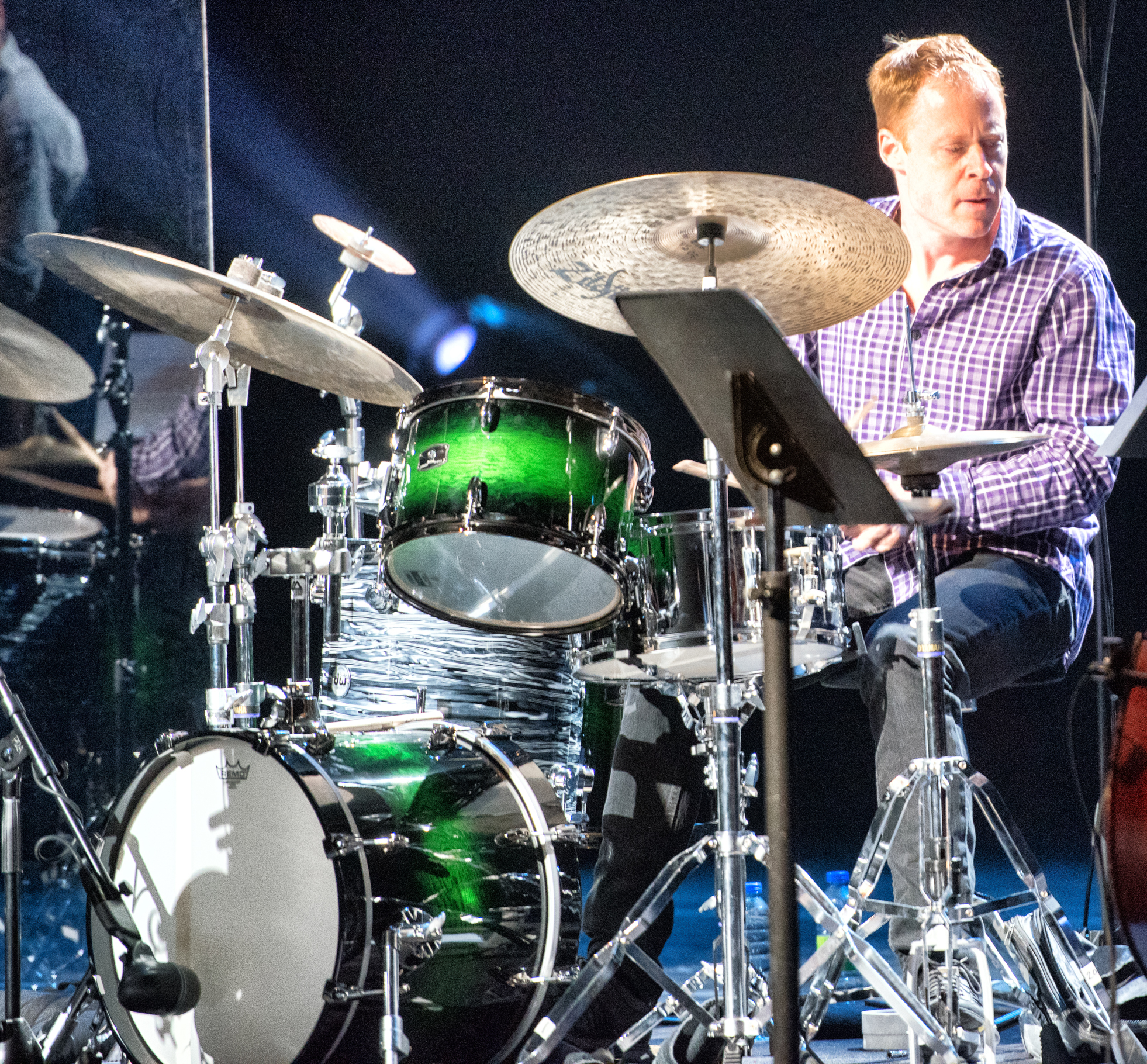Bill Stewart with the John Scofield - Joe Lovano Quartet at the Montreal International Jazz Festival 2015
