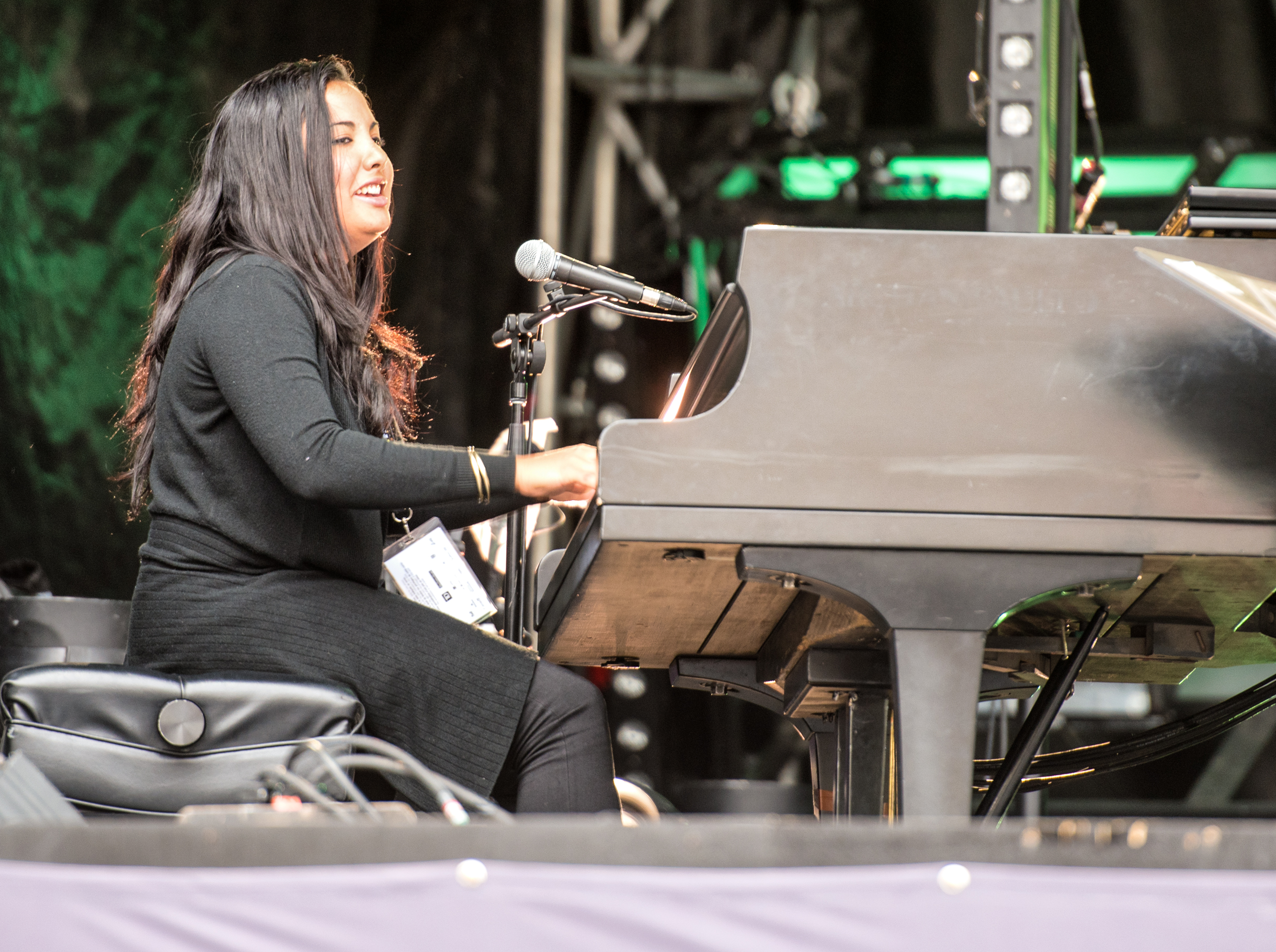 Danae Olano with Jane Bunnett and Maqueque at the Montreal International Jazz Festival 2015