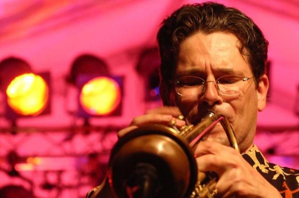 "Ian Gordon-Lennox with ""Latino Big Band : Homenaje a Tito Puente"" at L'Amr Aux Cropettes, Geneva, Switzerland, 2004"