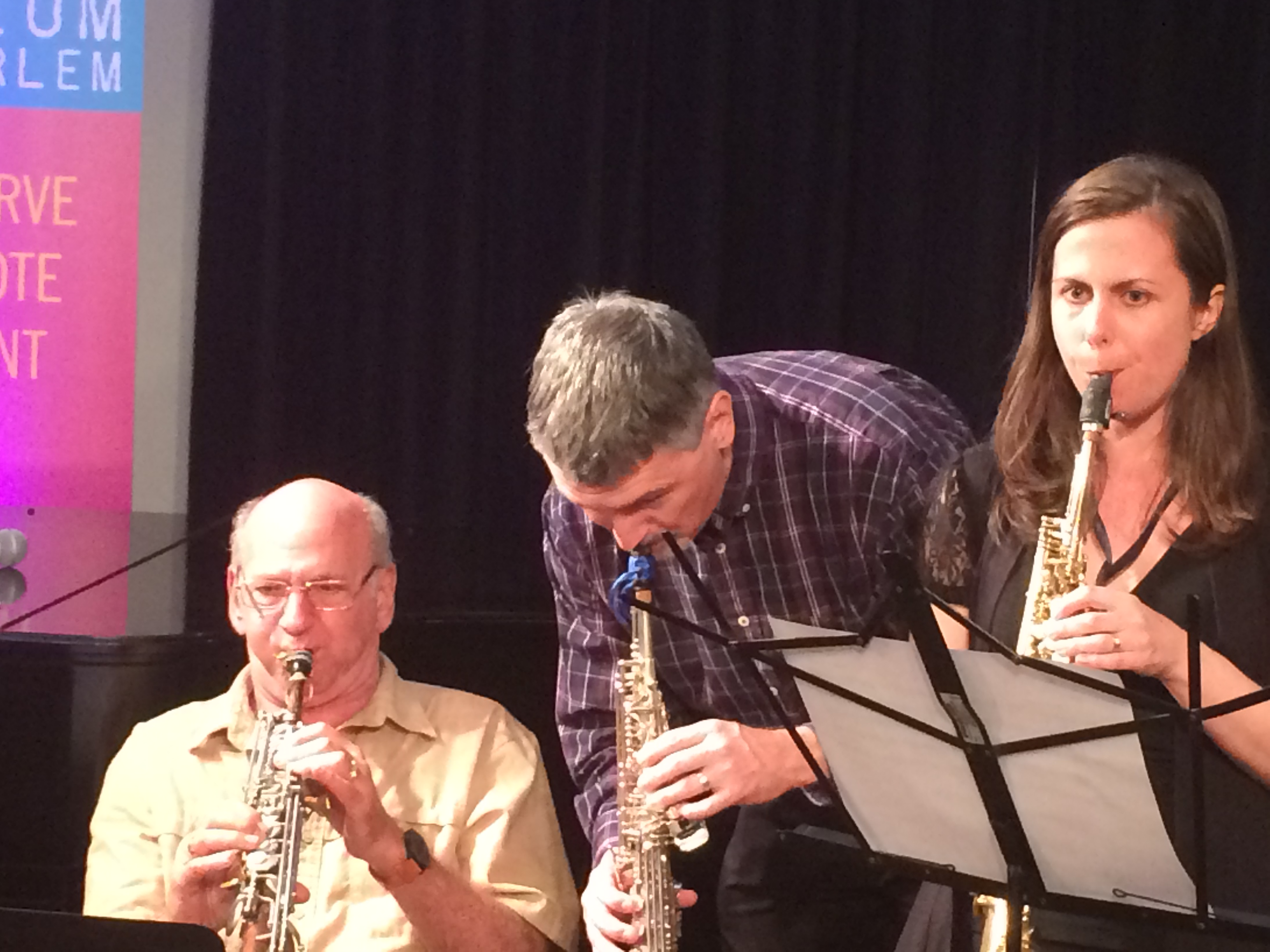With Dave Liebman and Kayla Milmine