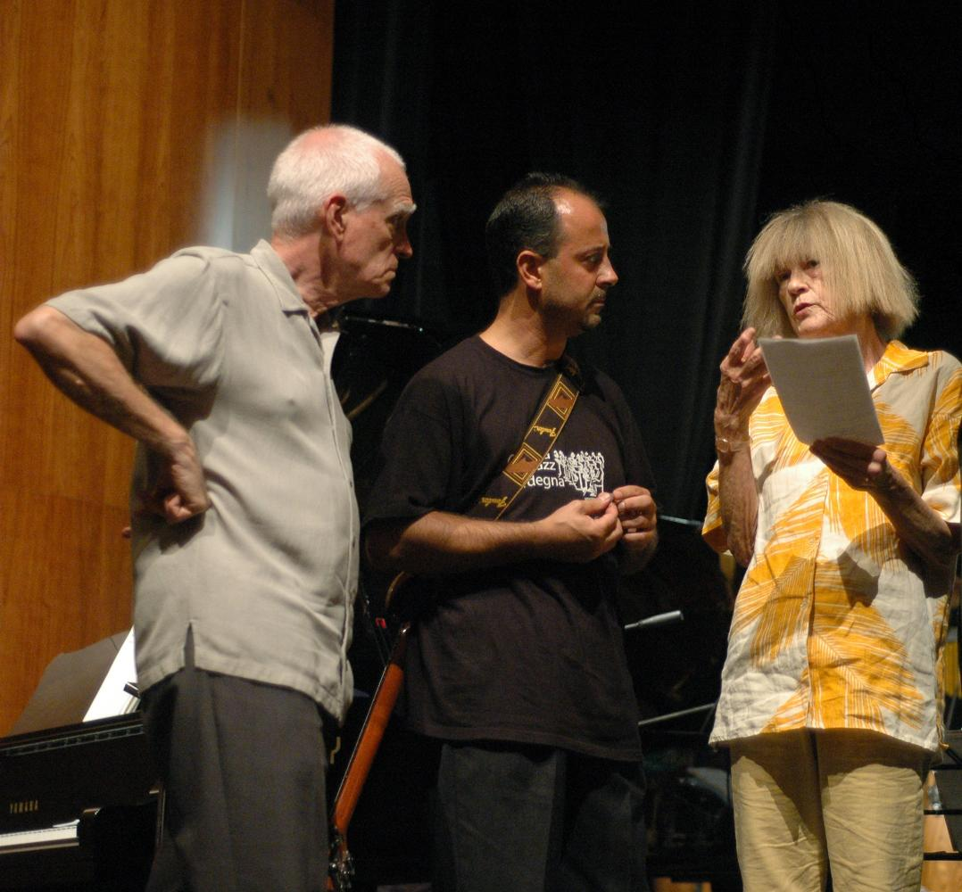 Roberto Tola, showtime with Steve Swallow and Carla Bley