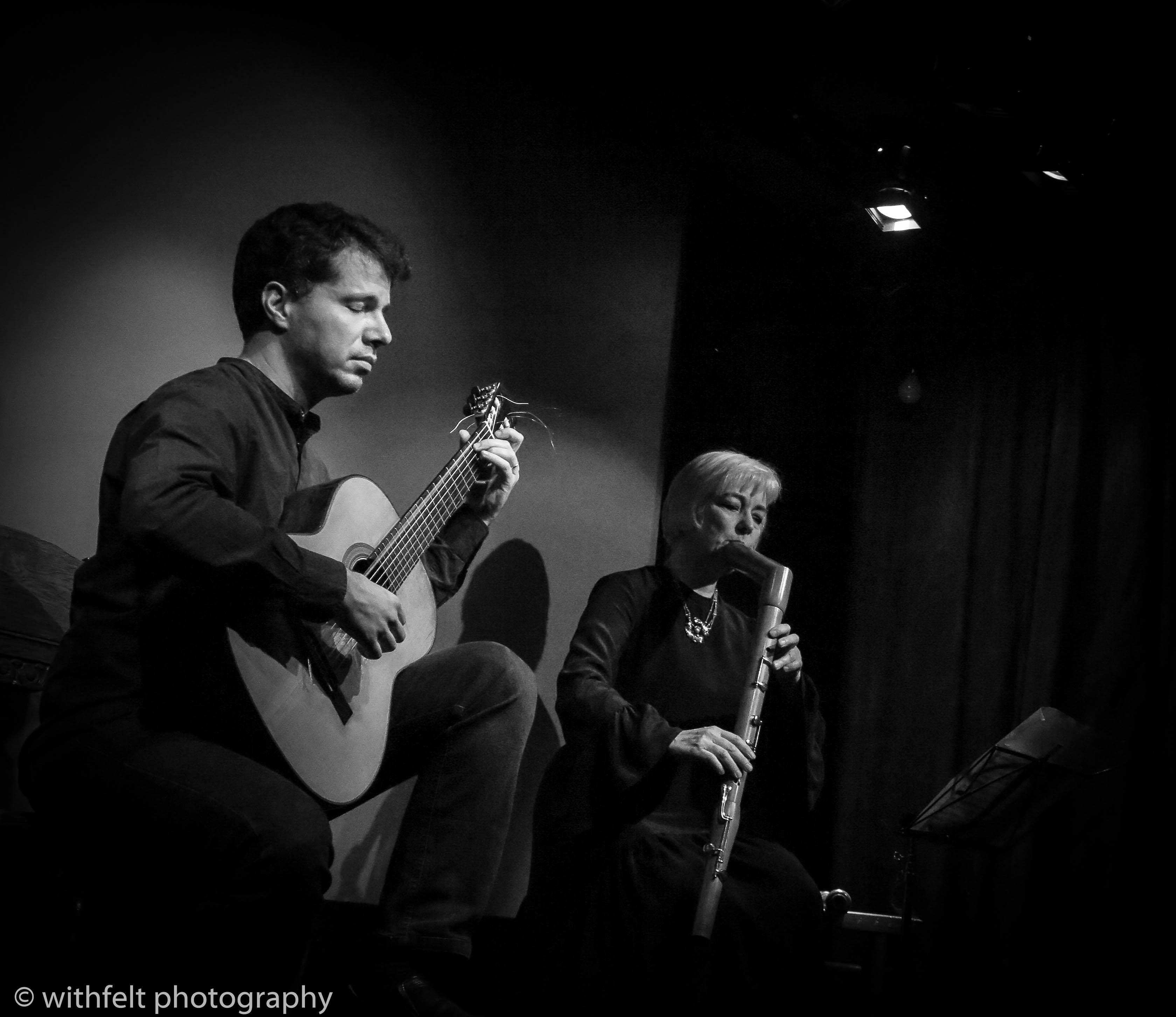 Daniel Murray & Michala Petri at concert in Posthus Teatret, Copenhagen 12.07.2019