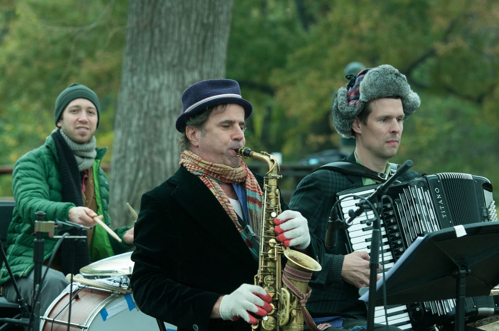Richie Barshay, Matt Dariau and Will Holshouser WTH the Klezmatics at Jazz and Colors in Central Park