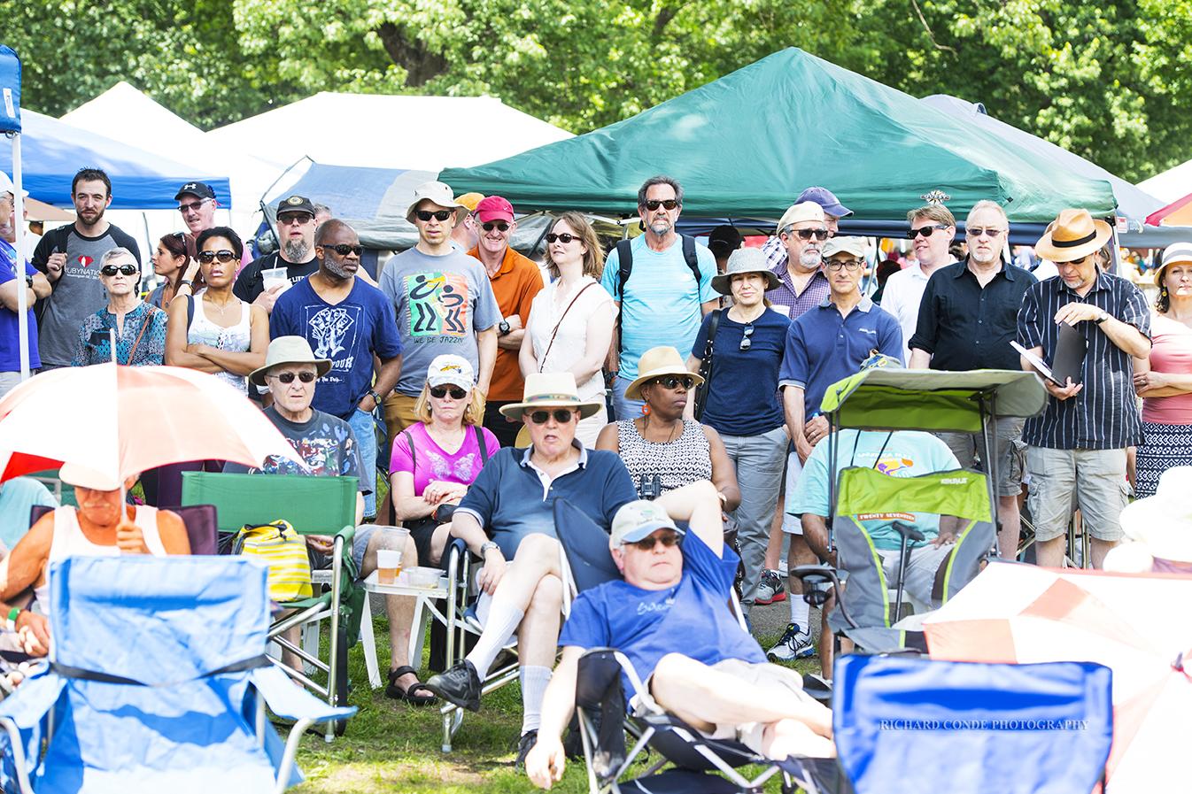 Jazz fans at the Freihofer Saratoga Jazz Festival 2017