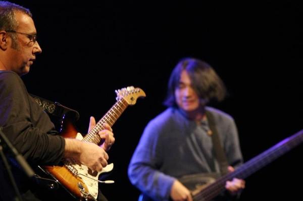"Ahmad Mansour and Stomu Takeishi with ""Ahmad Mansour - Public Domain"" at the Amr Jazz Festival, Alhambra, Geneva, Switzerland,"