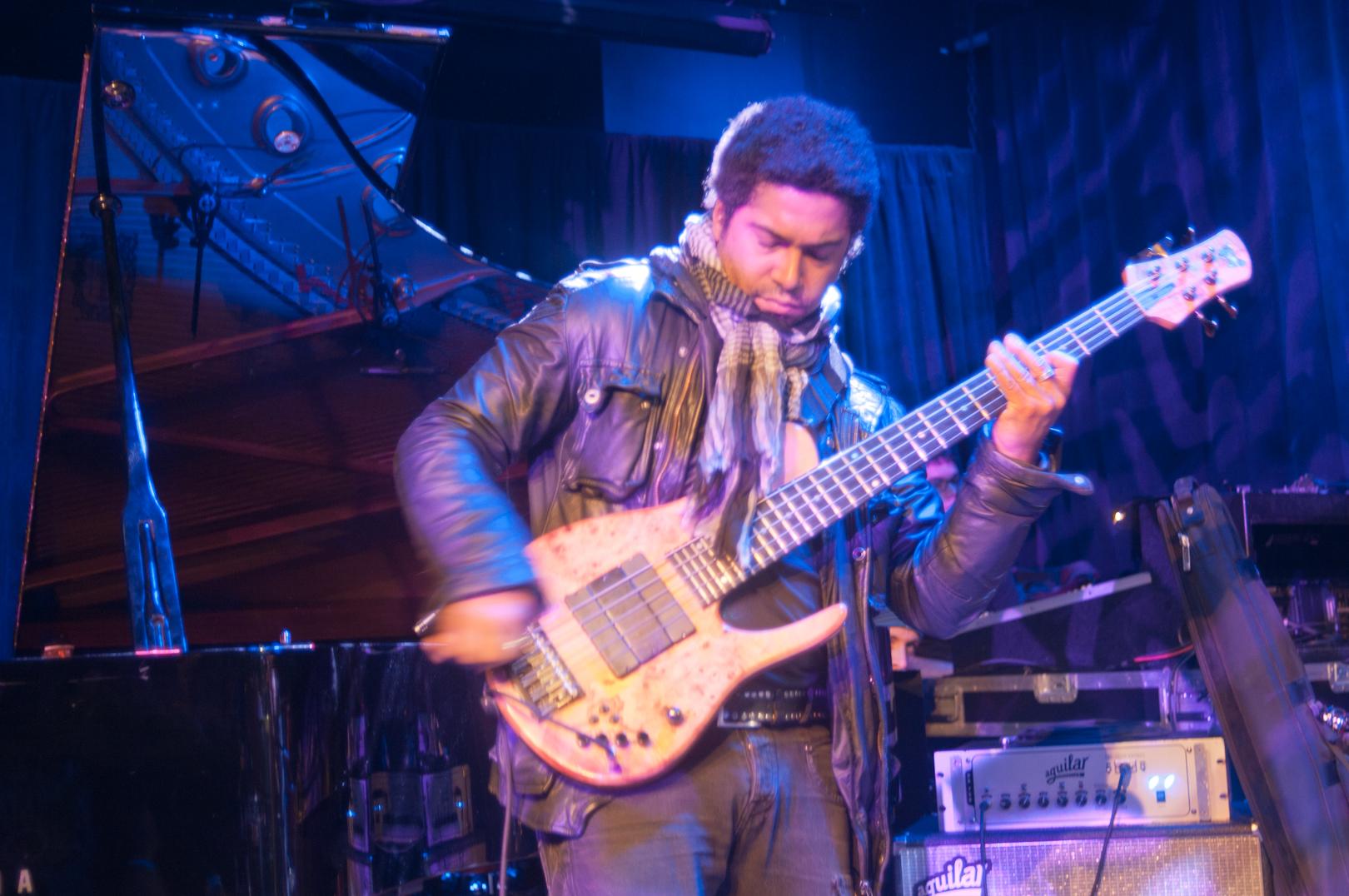 Matt Garrison with Ravi Coltrane at the Winter Jazzfest 2012