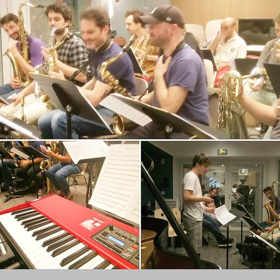 Paris College of Music Bigband rehearsal