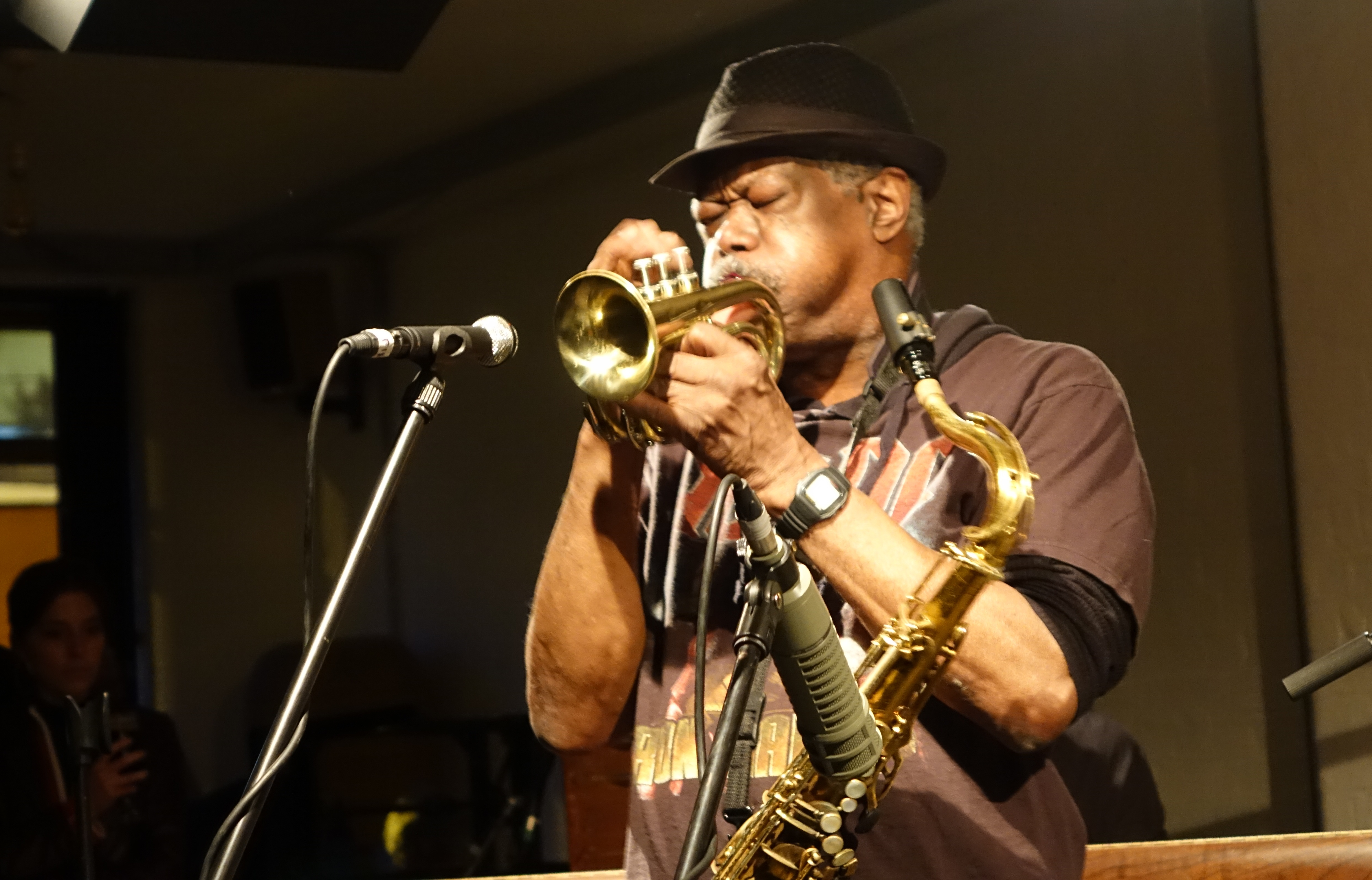 Joe McPhee at Cafe Oto, London in May 2019