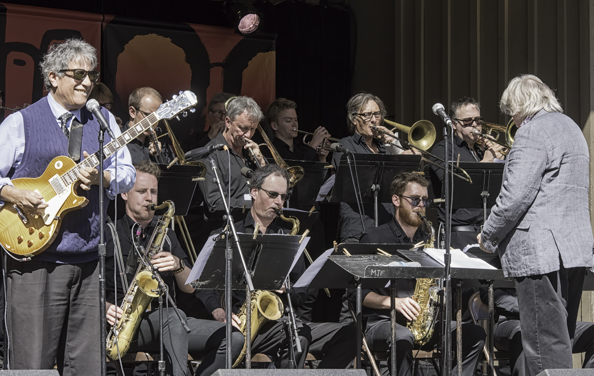 Chris Cain with the Rodger Fox Big Band at the Monterey jazz Festival