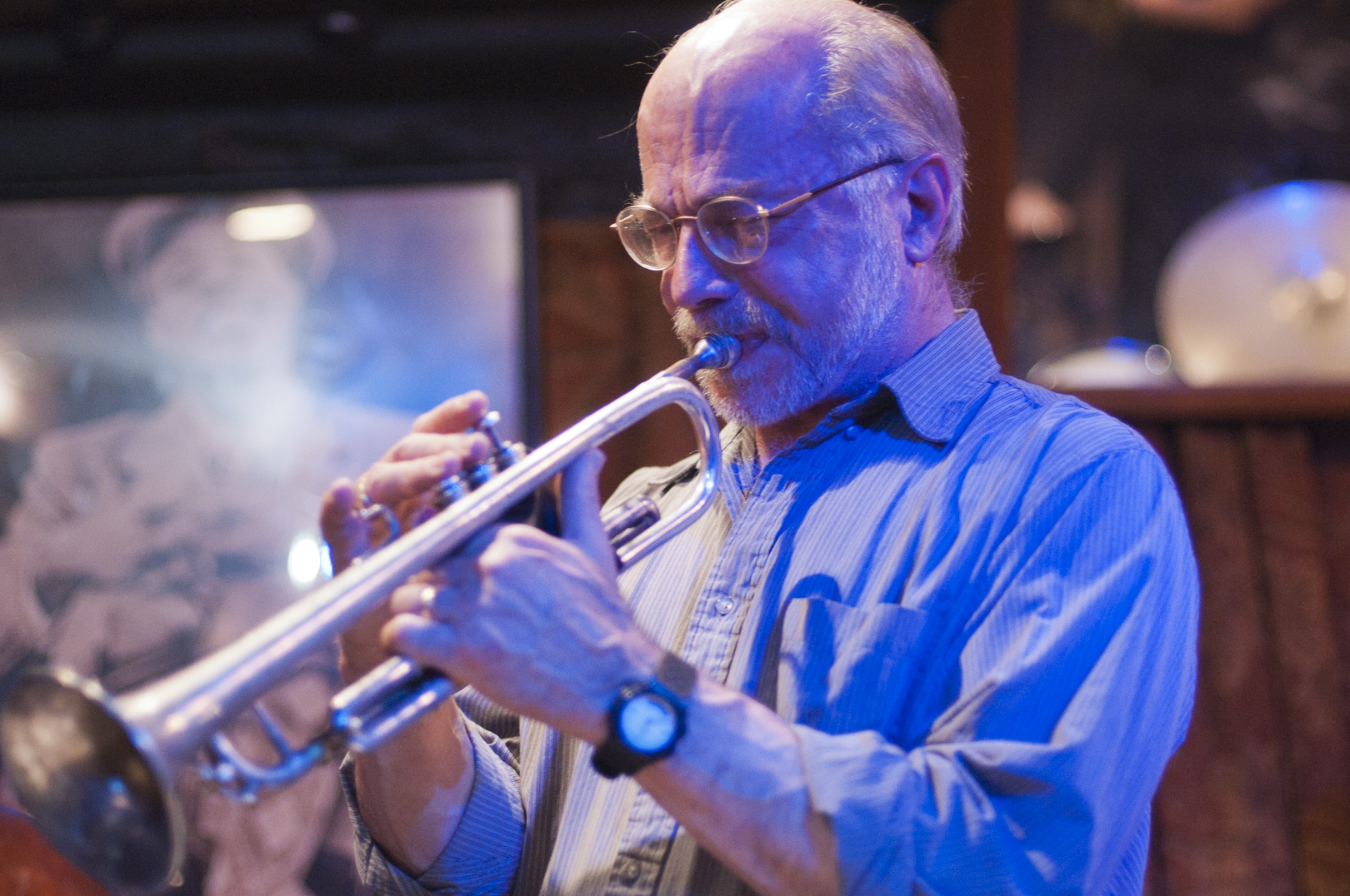 John Eckert with the Lew Tabackin Quartet at Smalls Jazz Club