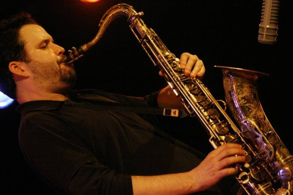 "Jason Rigby with the ""Scott Dubois Quartet"" at the Sud Des Alpes, Amr, Geneva, Switzerland, March 2006"
