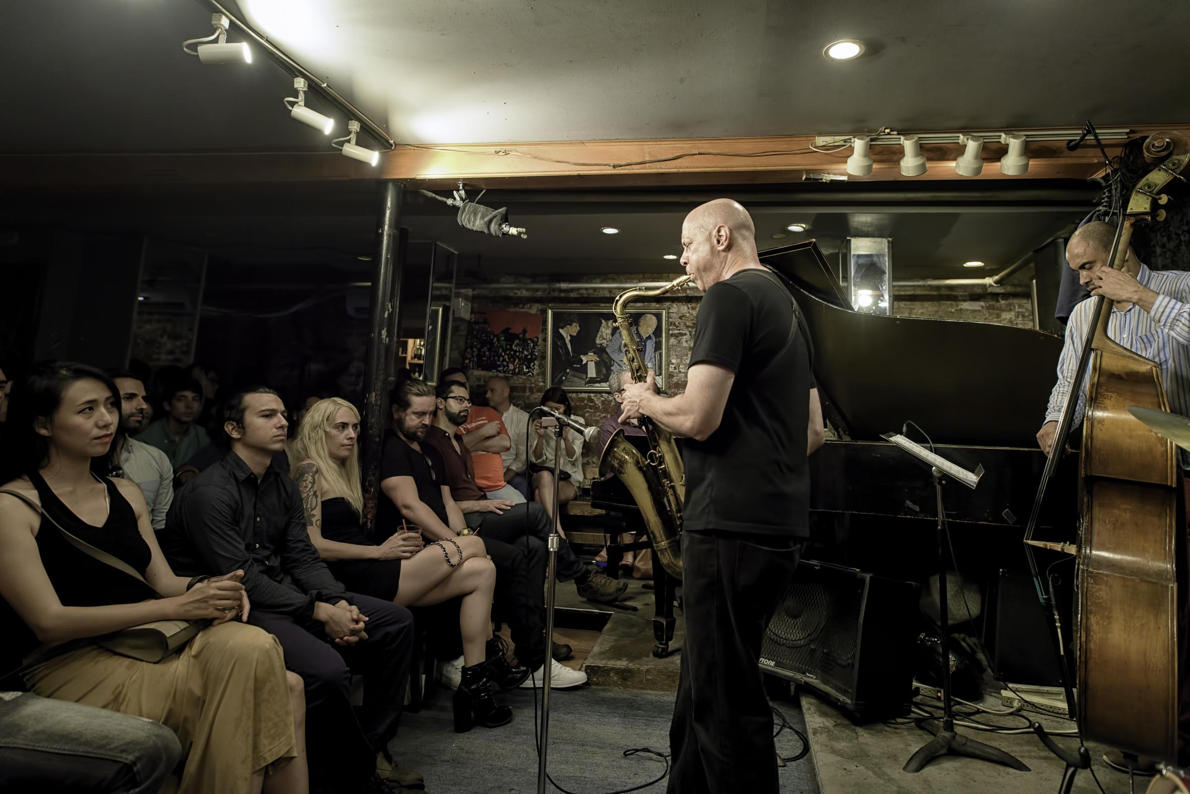 Walt Weiskopf and Ugonna Okegwo with the Walt Weiskopf Quartet at Smalls Jazz Club
