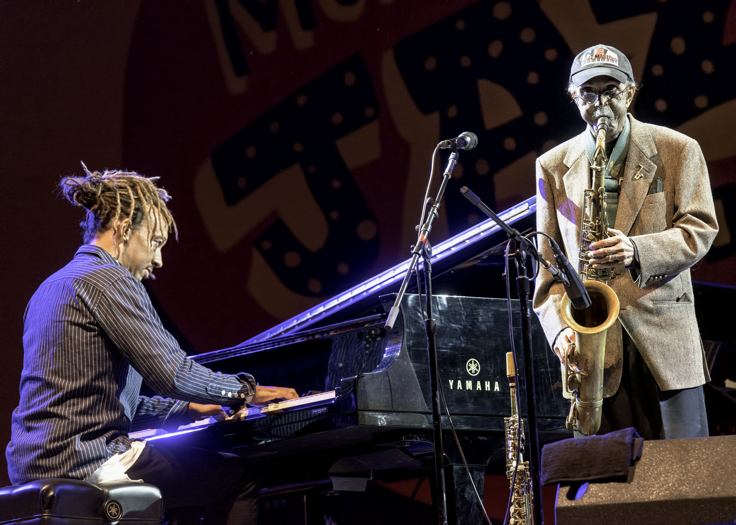Gerald Clayton and Jimmy Heath with A Tribute to Sonny Rollins at the Monterey Jazz Festival
