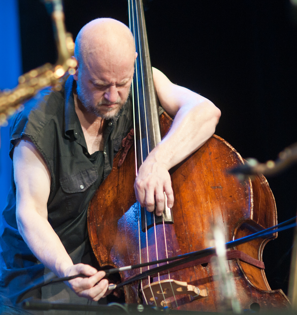 Kent Kessler with Peter Brotzmann's Quintet at the Vision Festival 2011