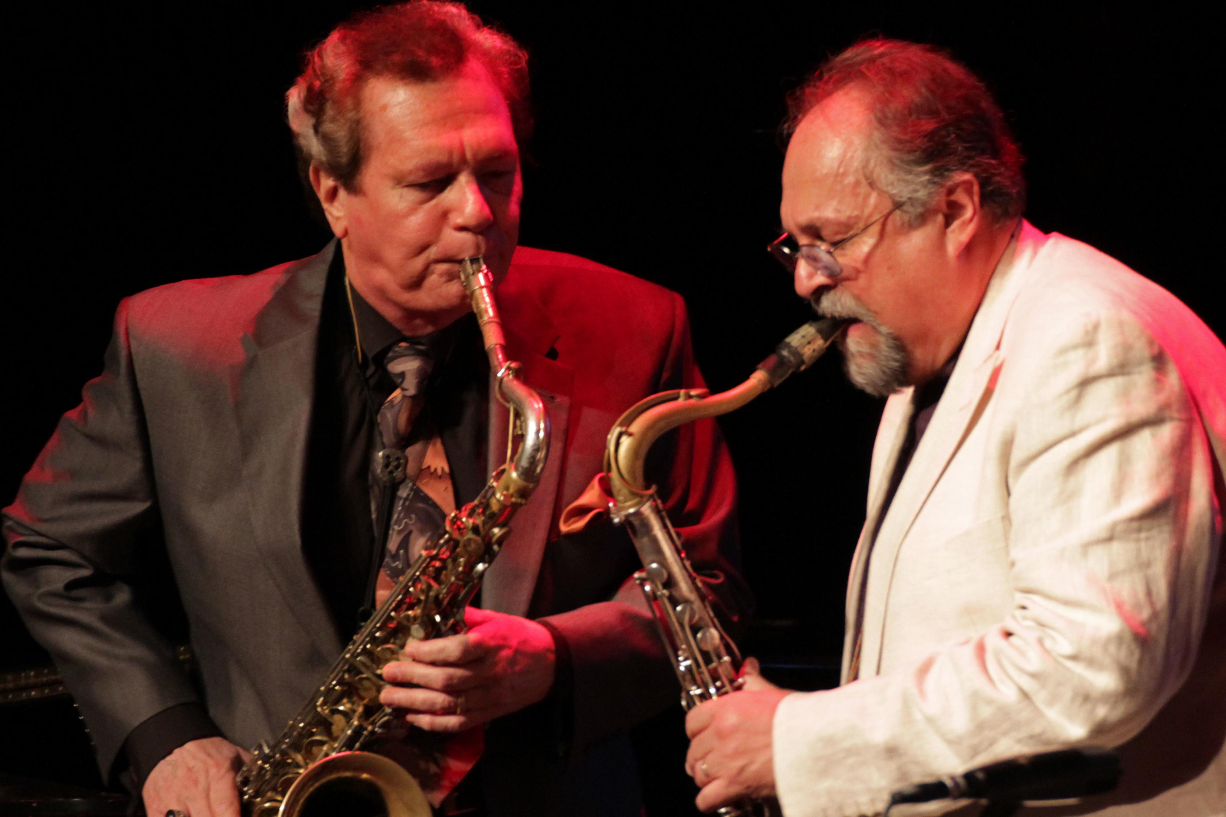 Ernie krivda and joe lovano at tri-c jazzfest cleveland 2013