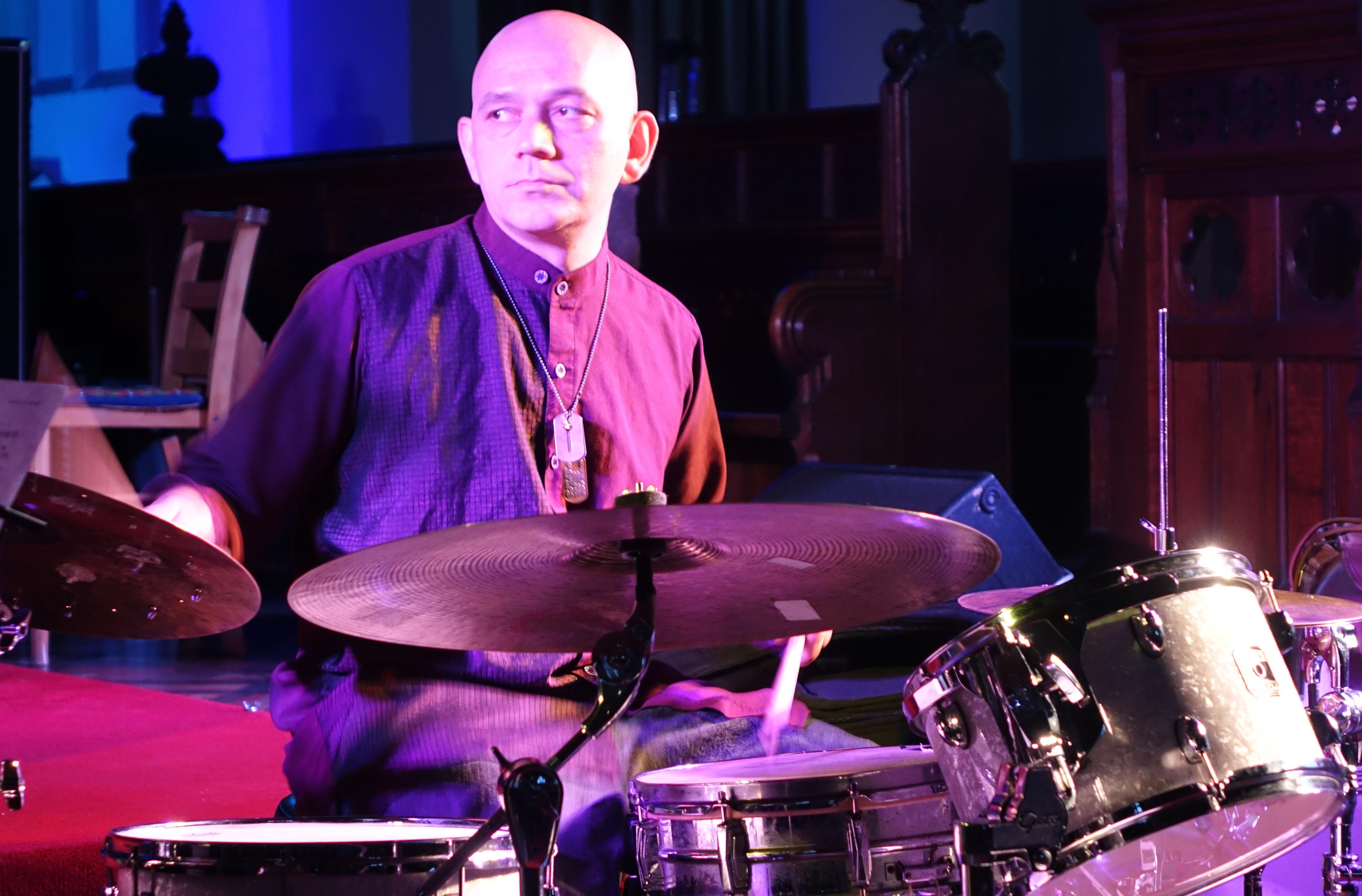 Seb Rochford at Brighton Alternative Jazz Festival in October 2018