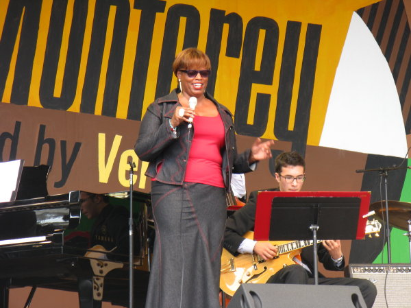 Dianne Reeves, at the 2010 Monterey Jazz Festival
