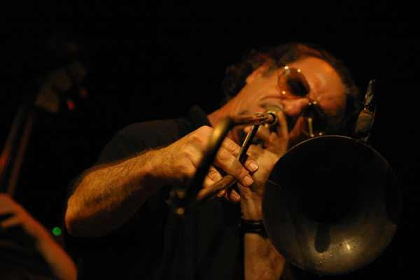 "Glenn Ferris with ""Quartet Lindemann-Francioli-Ferris-Everett"" at Amr, Sud Des Alpes, Geneva, Switzerland, 2004"