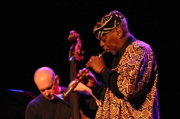 "Dewey Redman and John Menegon with ""Dewey Redman Quartet"" at Amr Jazz Festival, Alhambra, Geneva, Switzerland, 2004"