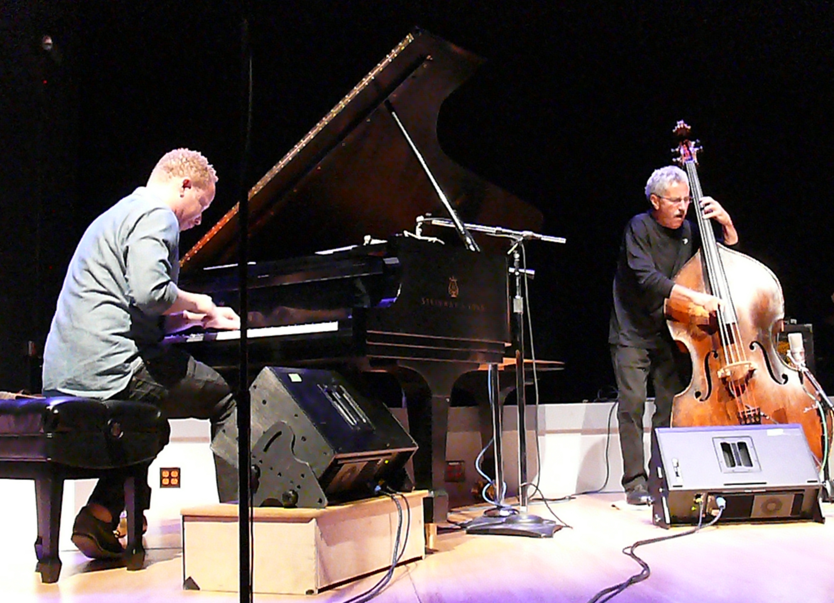 Craig taborn and mario pavone at the vision festival, new york in june 2013