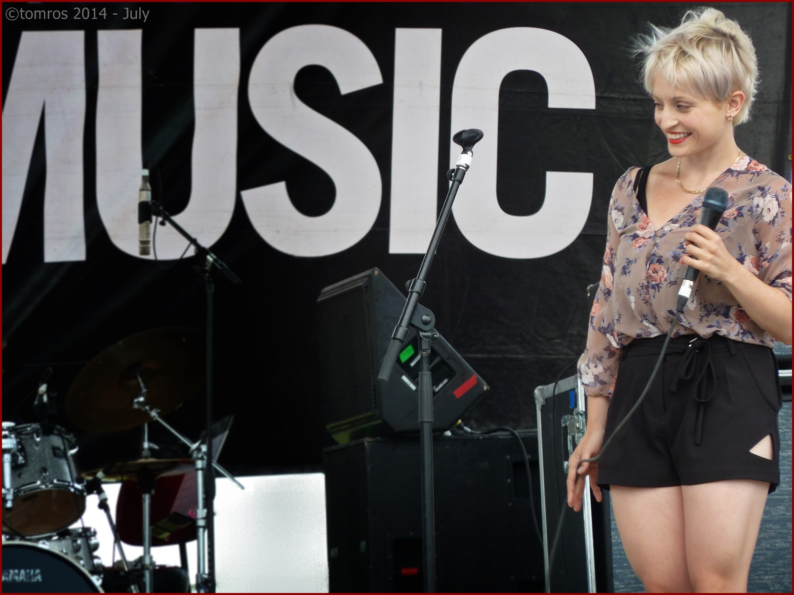 Barbra Lica at Beaches Jazz Festival. July 26, 2014