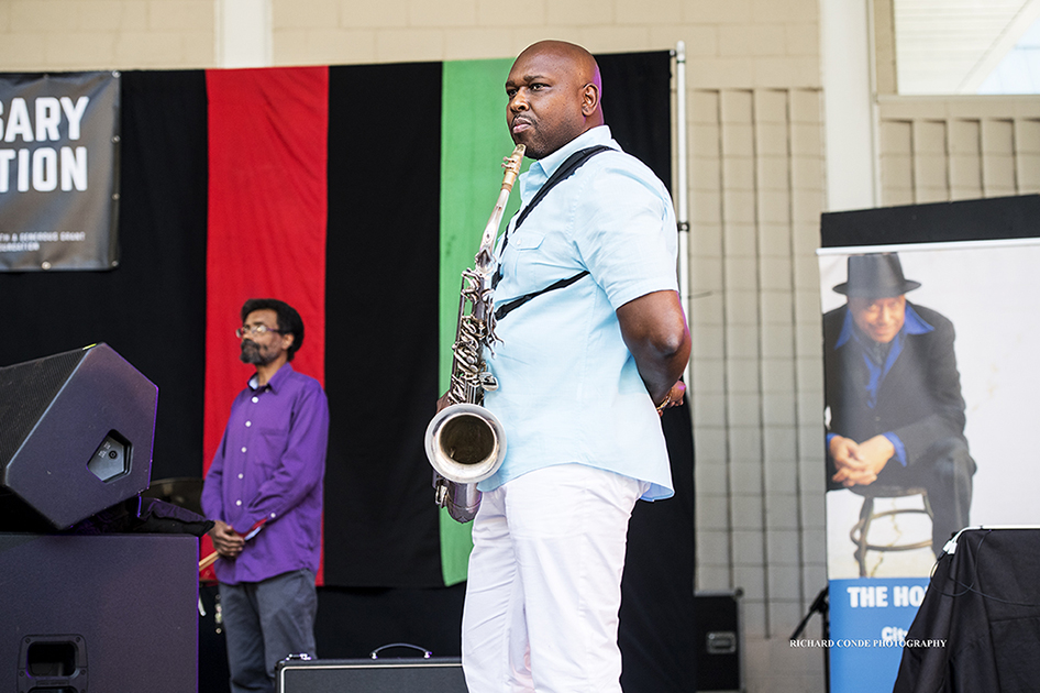 Abraham Burton at the 2017 Charlie Parker Jazz Festival