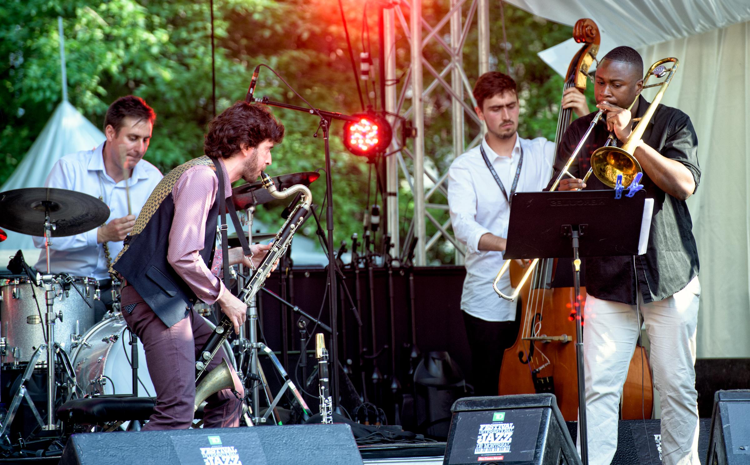 Oran Etkin, Greg Richie, Modibo Keita at the Montreal Jazz Festival 2015