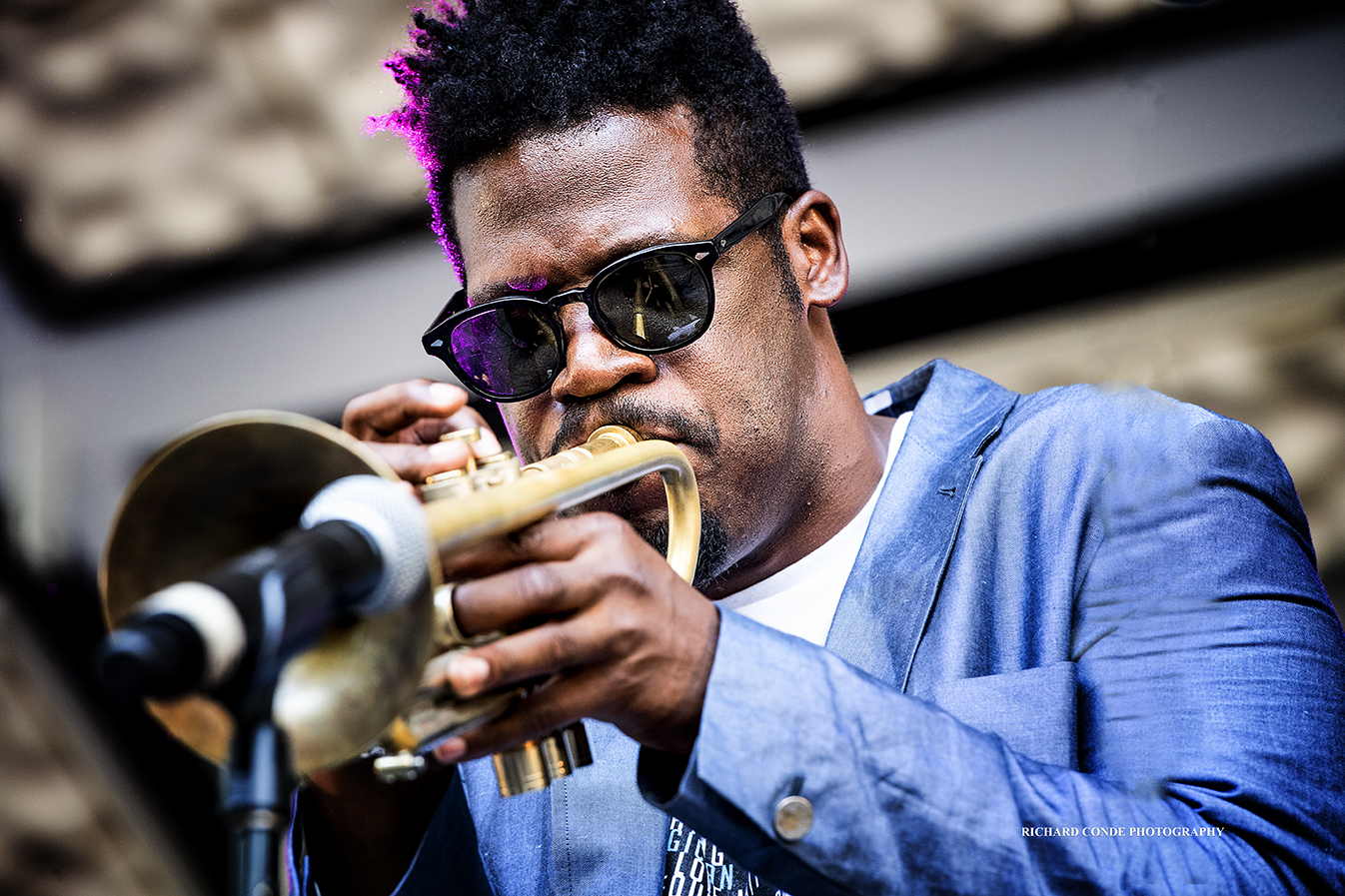 Keyon Harrold at the 2018 Charlie Parker Jazz Festival