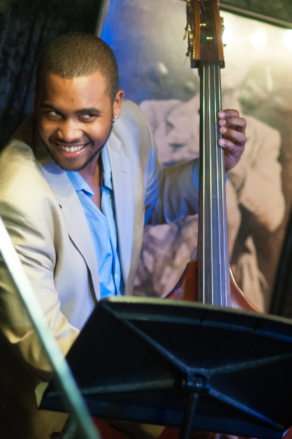Russell hall with quincy davis at smalls jazz club
