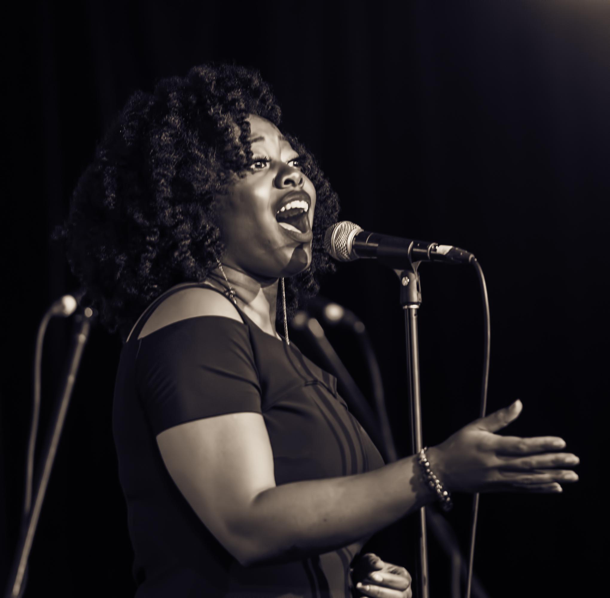 Alicia Olatuja at the Monterey Jazz Festival